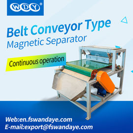 4 - 10T 3 Layer Magnetic Roll Separator , Metal Separation Equipment 1.5KW Feldspar sand Quartz